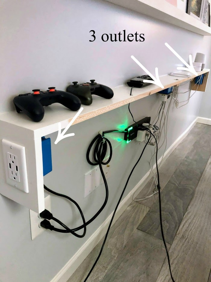Improved power to shelf