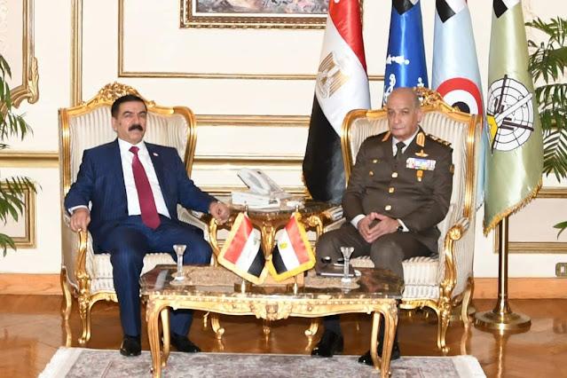 وزير الدفاع والإنتاج الحربى يلتقى وزير دفاع جمهورية العراق خلال زيارته الرسمية لجمهورية مصر العربية