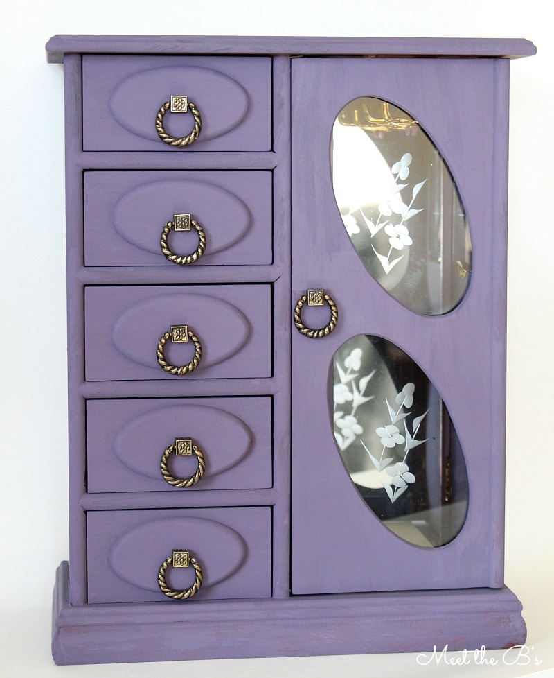 Chalk Painted Jewelry Box