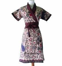 Contoh Dress Baju Batik Guru Wanita Muslimah Modern