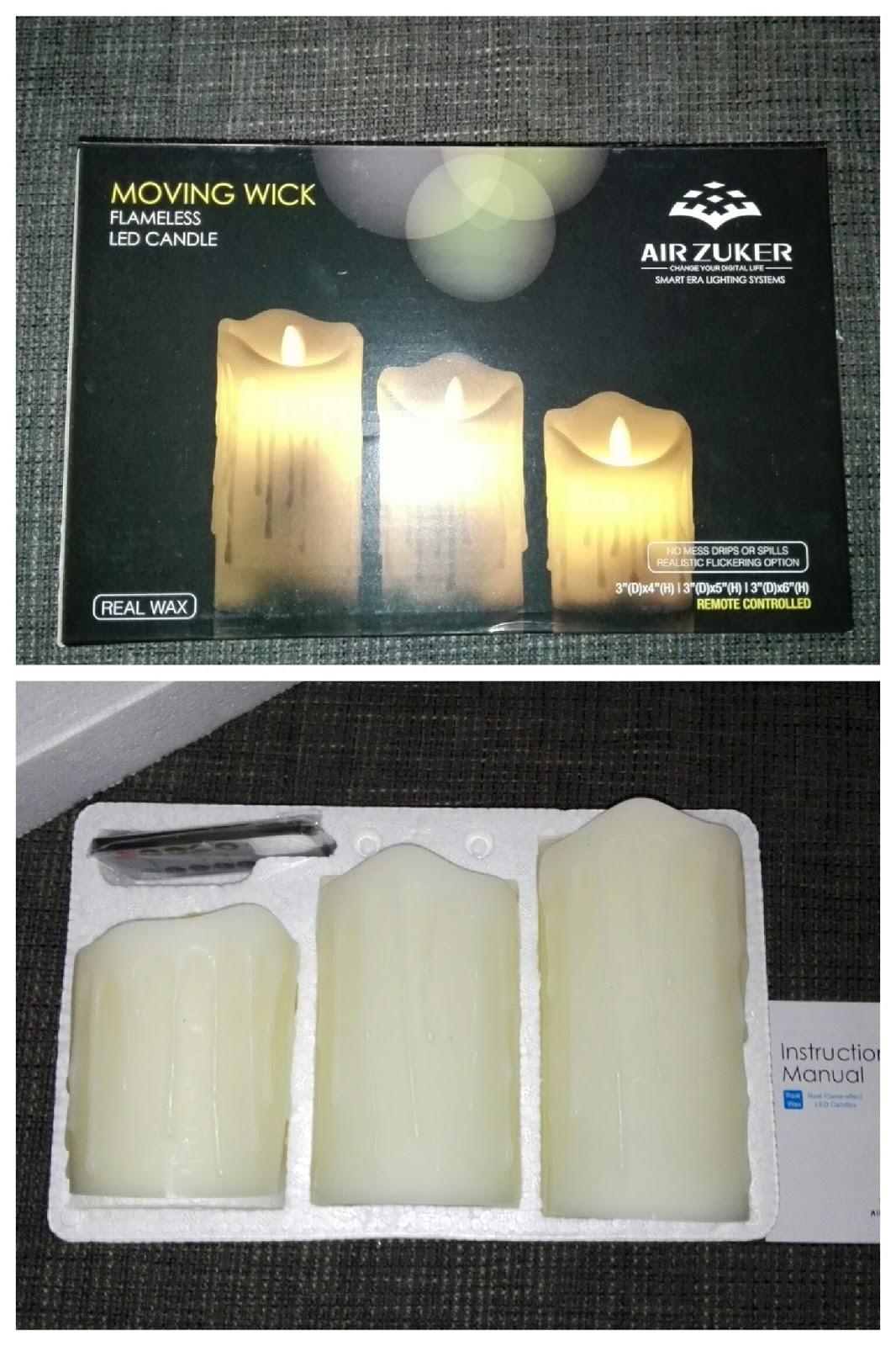 Air Zuker 3er LED Flammenlose Kerzen
