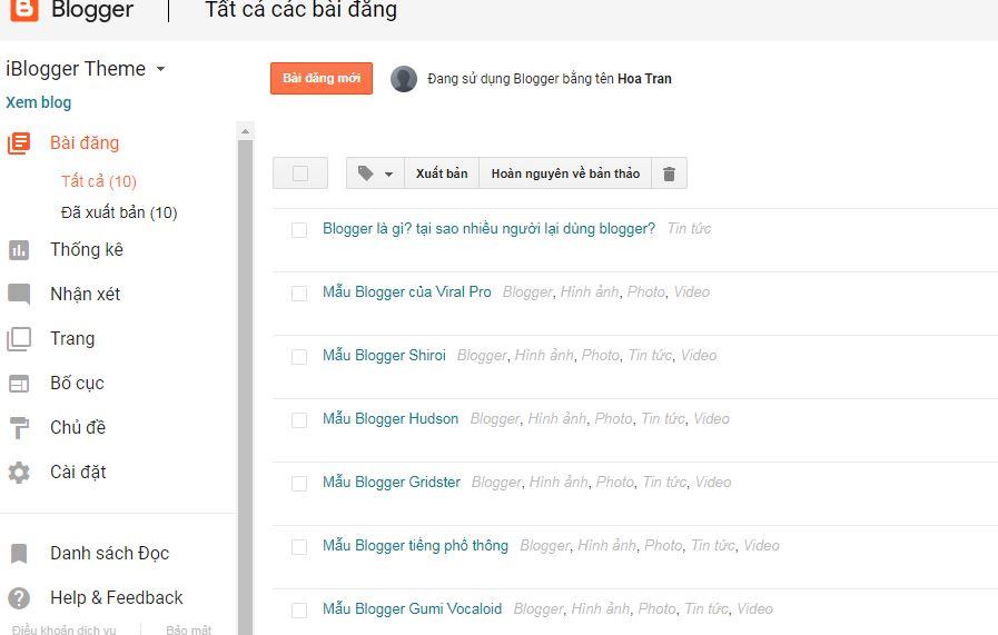 Hướng dẫn tạo một trang blogger miễn phí làm web blog cá nhân