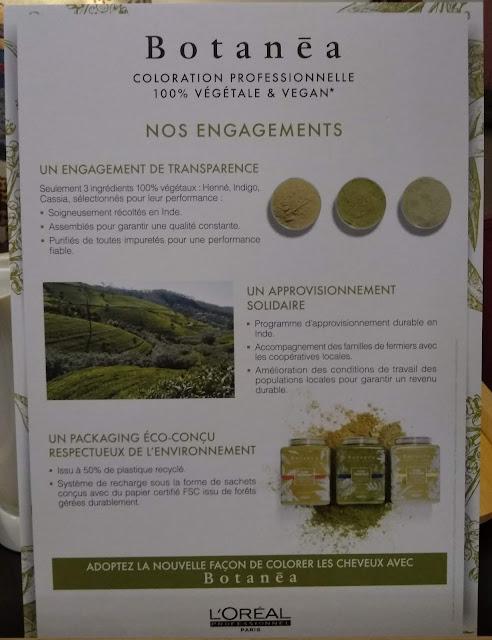 Charte d'engagements L'Oréal pour Botanéa, coloration végétale et vegan.