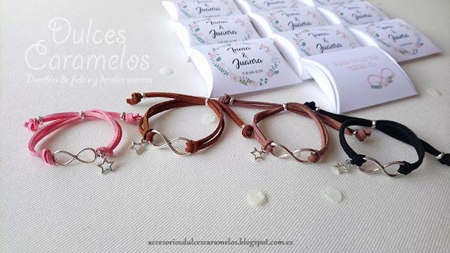 pulseras boda negro, chocolate y marrón