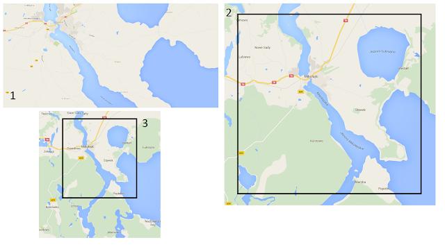 Generalizacja mapy na podstawie google maps