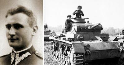 Izquierda  Władysław Raginis. Derecha  Panzer III alemán Ausf. D 383f3f57c35