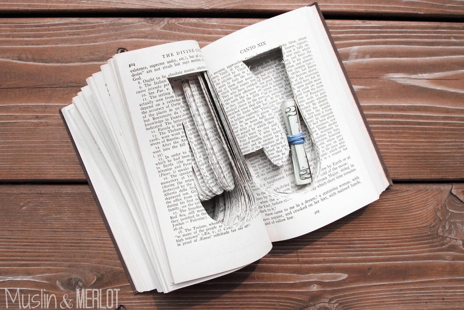 Diy Customized Book Safe Muslin And Merlot