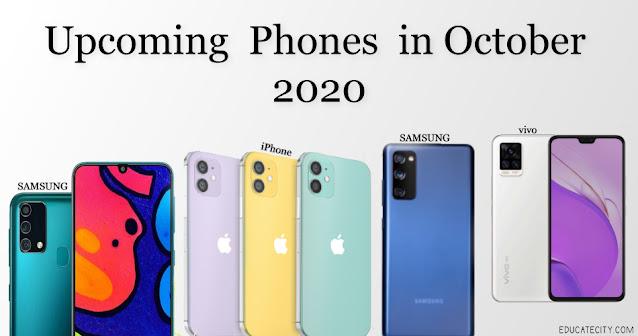 upcoming phones in october 2020