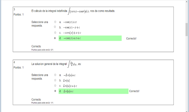 Lección evaluativa de calculo integral