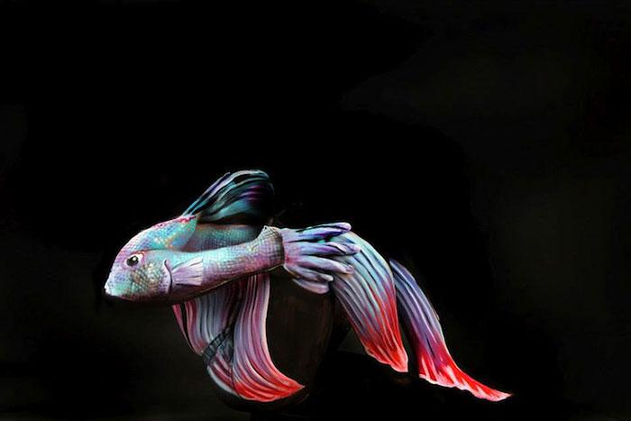 amazing-body-art fish