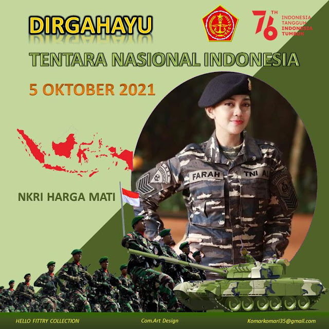 Kumpulan Twibbon HUT TNI ke-76 5 Oktober 2021