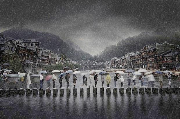 'Açık Seyahat' dalında ise ödülü 'Antik Kentte Yağmur' adlı çalışmasıyla Çinli Chen Li aldı.