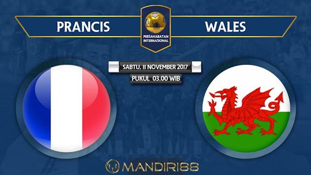 Tim nasional Prancis akan menjamu Wales pada adu persahabatan Berita Terhangat Prediksi Bola : Prancis Vs Wales , Sabtu 11 November 2017 Pukul 03.00 WIB