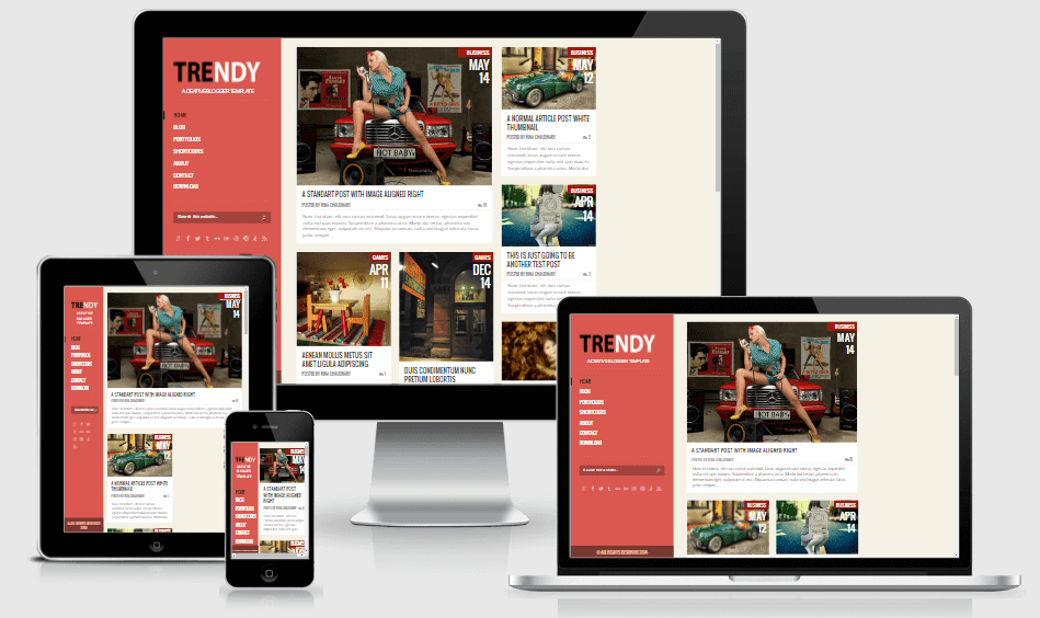 Download Trendy Responsive Blogger Template