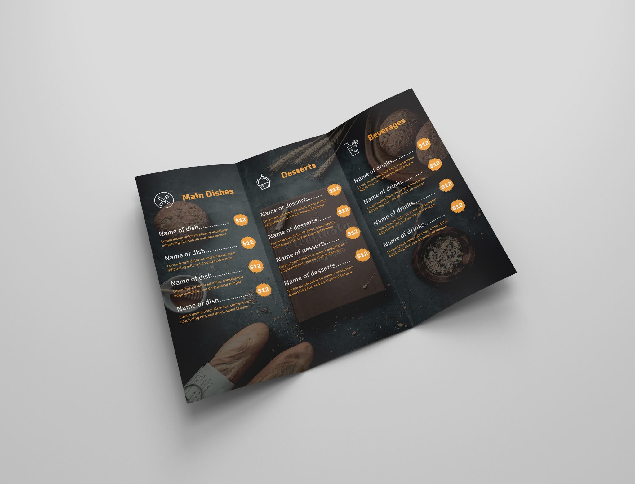 Download free restaurant brochure psd open source menu food psd free download