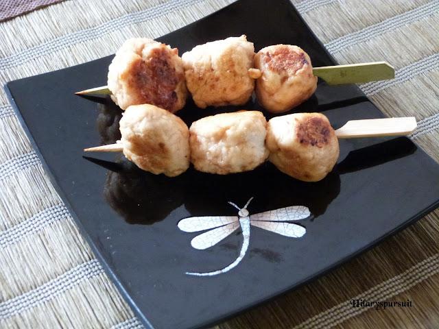 Yakitori de poulet au gingembre