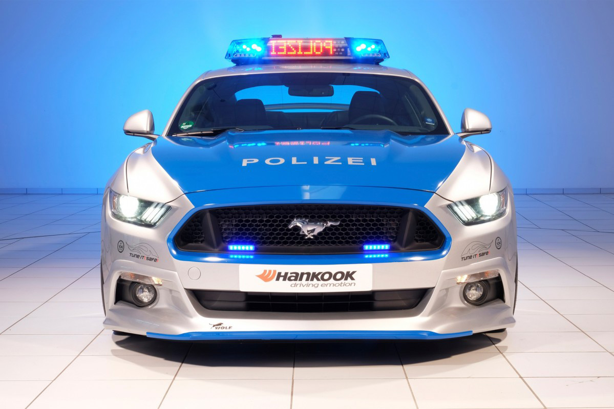 Ford Mustang Transformed Into A German Police Car At Essen
