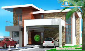 Modern House Elevation - 263 Sq M (2831 Sq. Ft) - January 2012