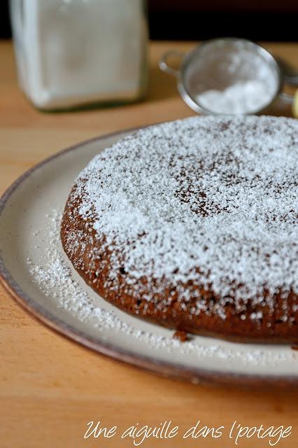 Gâteau à la ricotta, chocolat et noisette (sans beurre)
