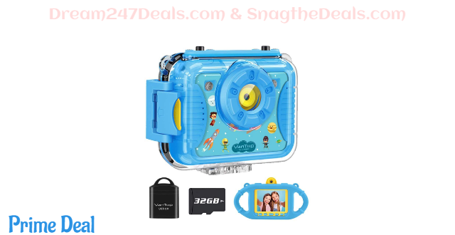 50%OFF Junior K8 Kids Camera with 32GB Memory Card (Blue or Pink)