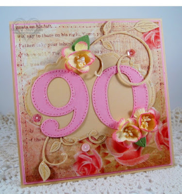 ODBD Custom Large Numbers Dies, ODBD Custom Vintage Labels Dies, ODBD Blushing Rose Paper Collection, ODBD Customer Card of the Day Created by Stacy Morgan aka Twinshappy
