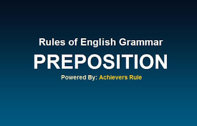 Use of Preposition with Example