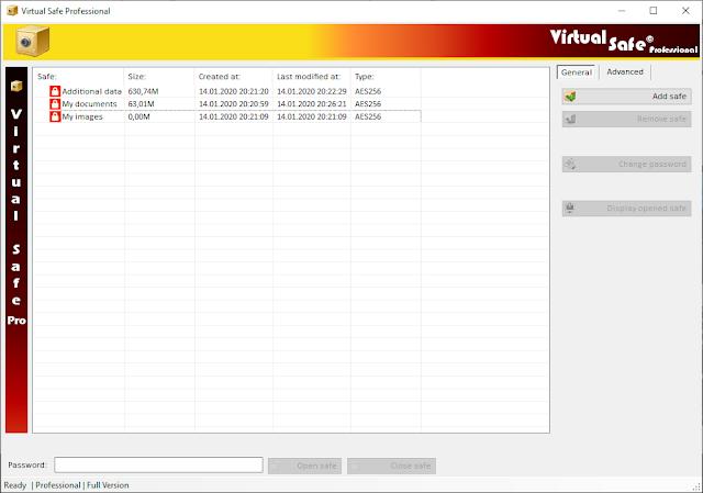 Screenshot Virtual Safe Professional 3.3.0 Full Version