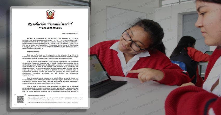 MINEDU: Bases de los Concursos Educativos Virtuales 2021