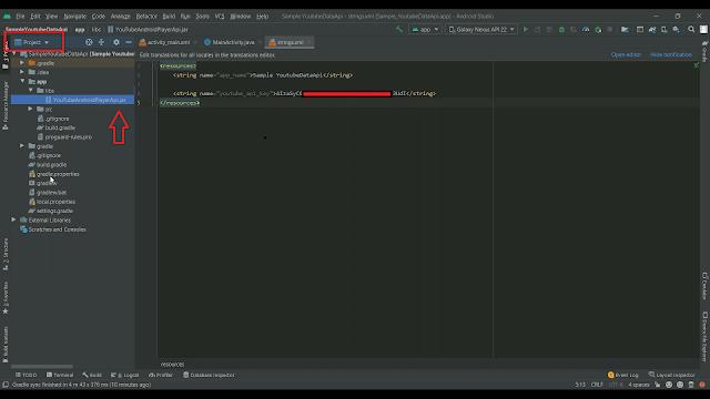 youtube data api in project libs folder