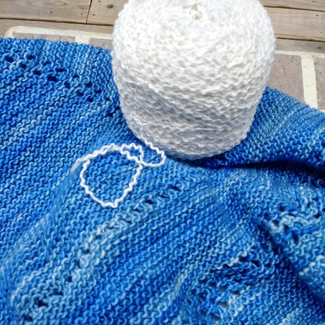 Knitting a garter stitch shawl
