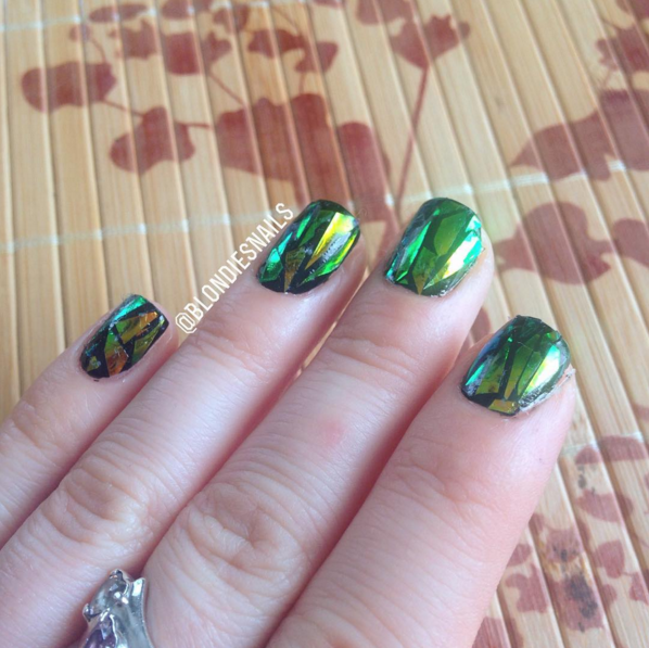 Blondies nails shattered glass nail art a tell all tale shattered glass nail art is super easy however it requires a lot of patience i have tried the shattered look twice now and it took me at least 45 prinsesfo Choice Image
