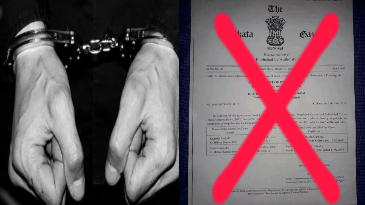 A non-tribal caste certificate holder was arrested