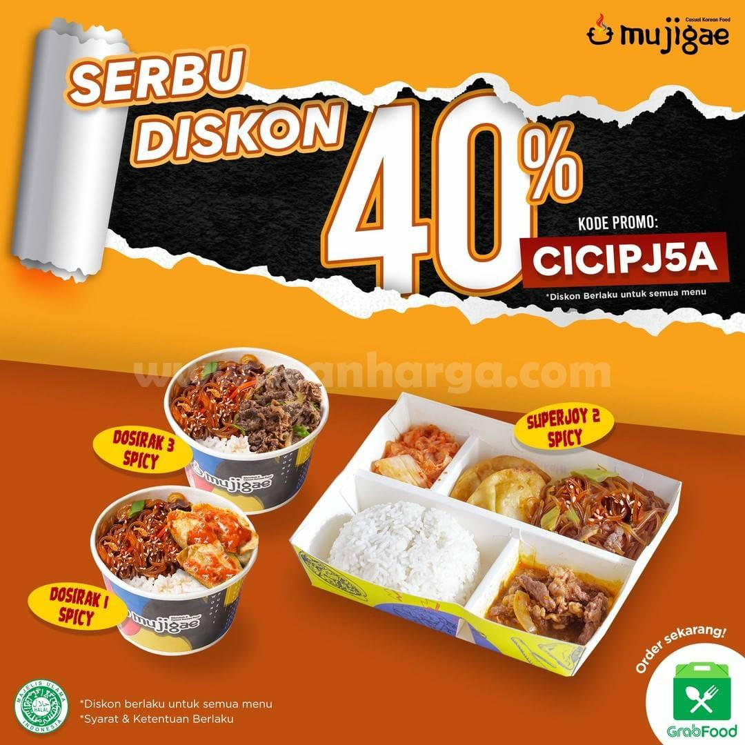 Mujigae Promo DISKON 40% Via aplikasi GRABFOOD