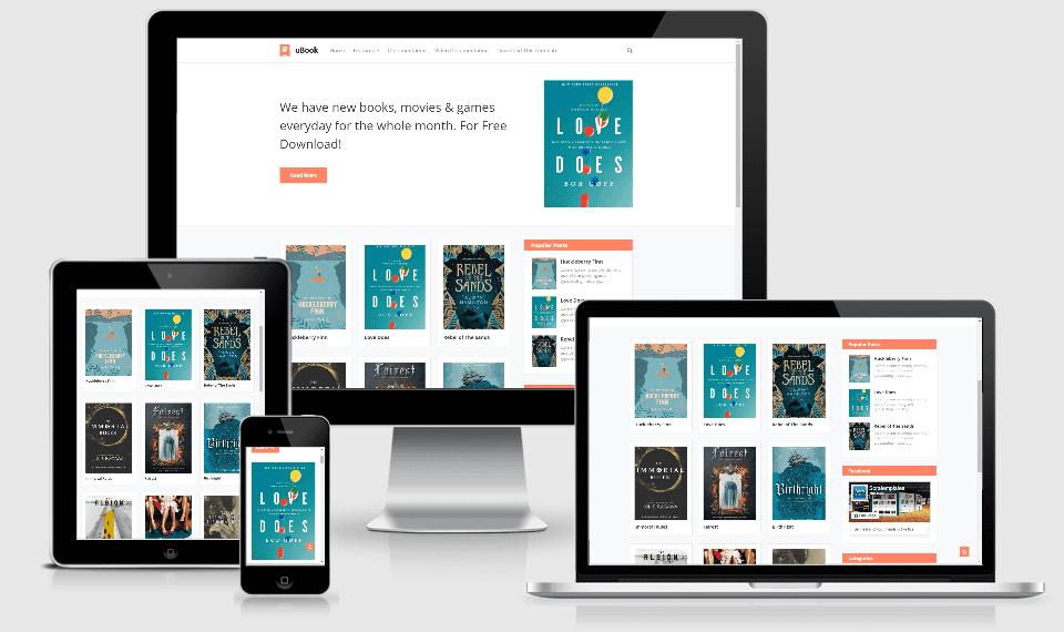 uBook uBook - Online Book Store Blogger Template templates
