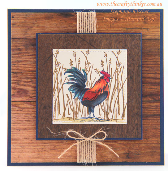 #thecraftythinker #stampinup #cardmaking #masculinecard #hometoroost #saleabration2019 #masking , Masculine Card, Home To Roost, Sale-A-Bration 2019, Masking, Stampin' Up Australia Demonstrator, Stephanie Fischer, Sydney NSW
