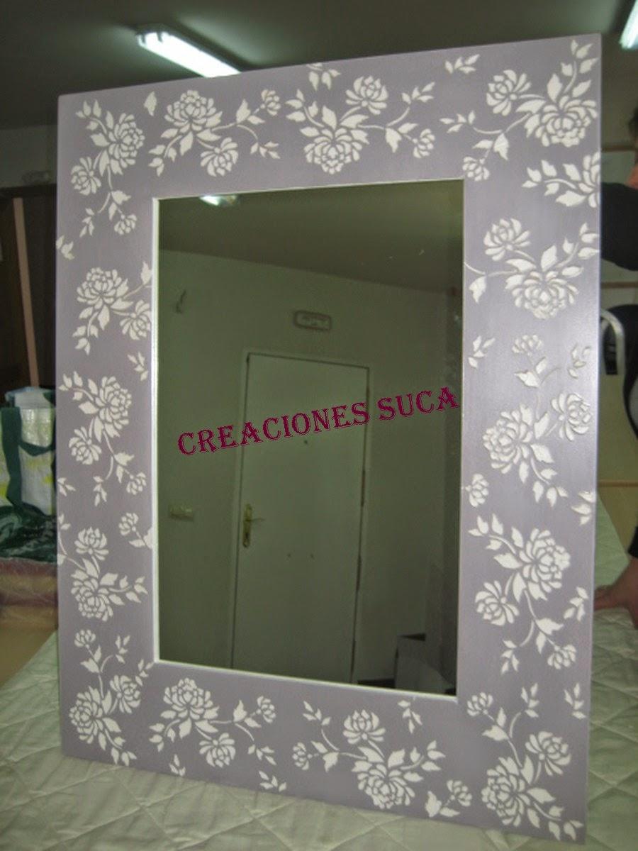 Creaciones suca espejos decorados for Espejos ovalados decorados