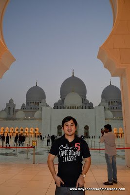 Ed at Sheikh Zayed Grand Mosque Abu Dhabi