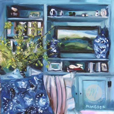 forsythia-cape-cod-room-interior-oil-painting-merrill-weber