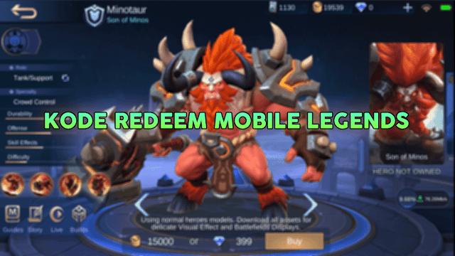 Kode Redeem Mobile Legends Hari Ini