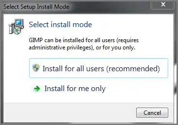 الموافقة علي تثبيت برنامج Gimp