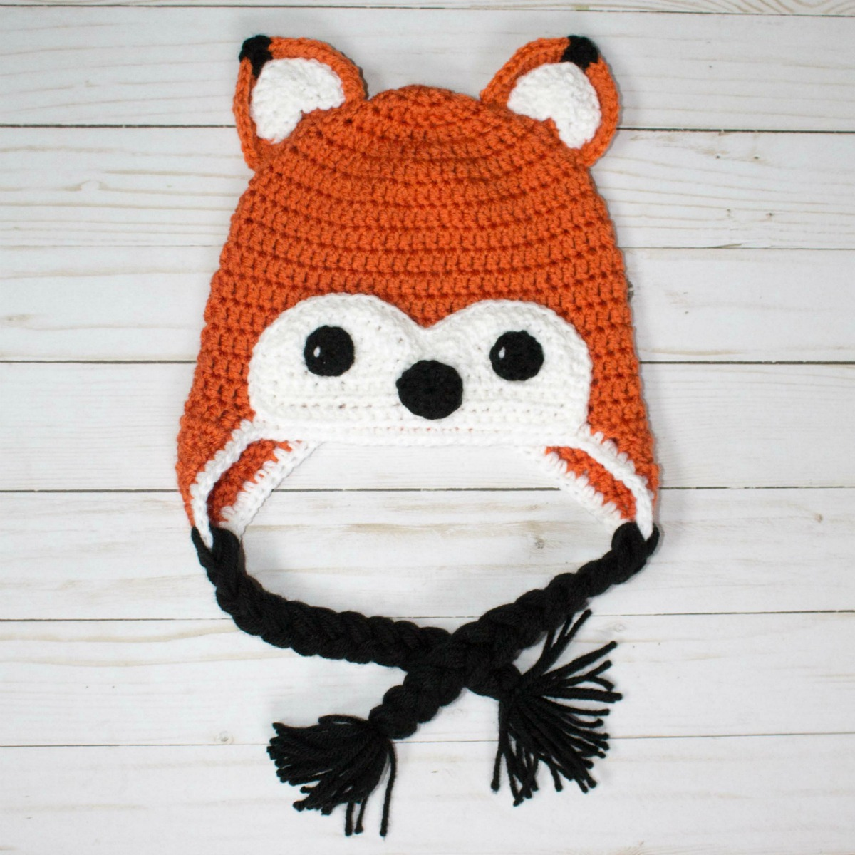 Free Crochet Hat Friendly Fox - thefriendlyredfox.com