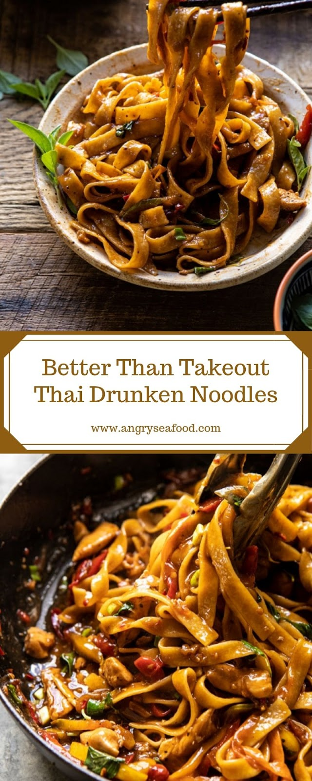 Better Than Takeout Thai Drunken Noodles