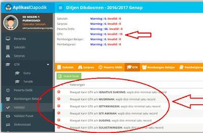 Memperbaiki GTK Invalid Riwayat Karir Pada Dapodik 2017