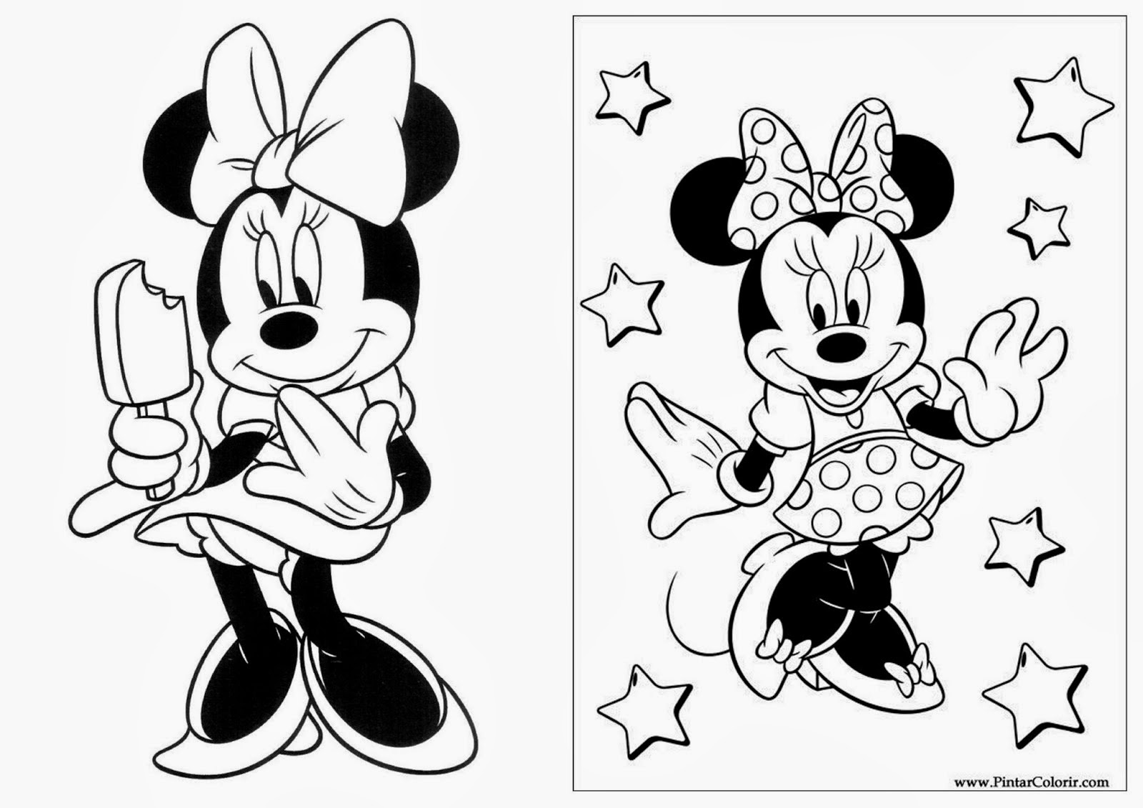 Las Recortables de Veva e Isabel: Minnie Mouse y Mickey Mouse ...