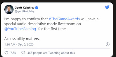 New Accessibility Feature The Game Awards 2020