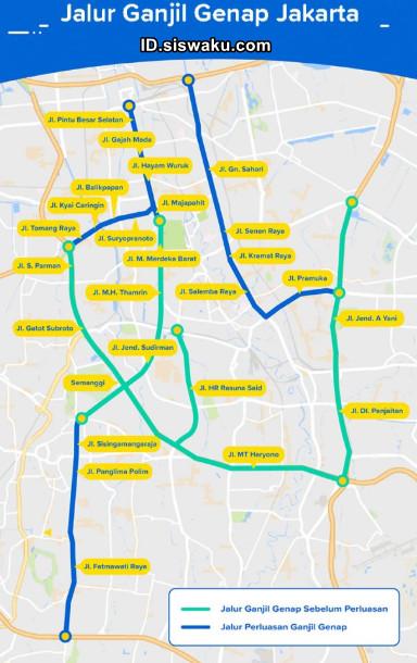 Rute Ganjil Genap Jakarta