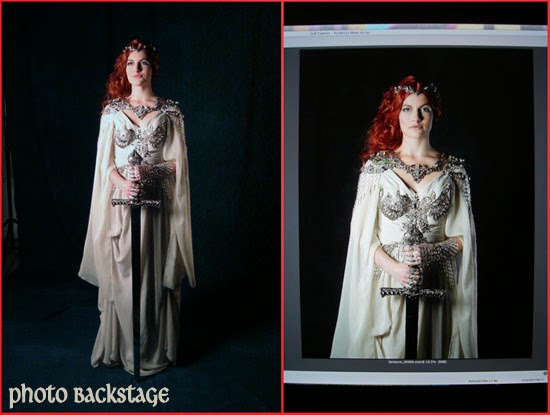 Séance Photos médiéval épée femme armure Lady Woman Knight Dress Armour Warrior Medieval Sword Photoshooting