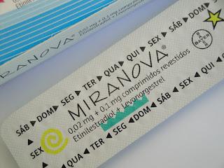Efeitos secundários da pílula miranova®