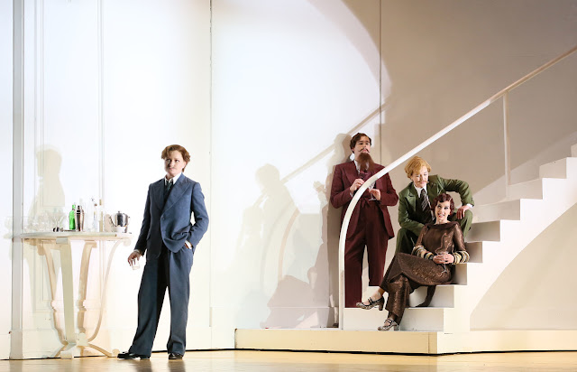 ENO - Handel: Partenope - Patricia Bardon, Matthew Durkan, Stephanie Windsor-Lewis, Sarah Tynan (Photo Donald Cooper)