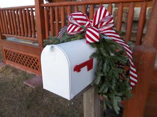 mailbox huggie Christmas garland from Tannenbaum Tree Farm in Lennox, South Dakota